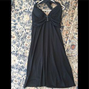 Tommy Bahama  black halter beach dress